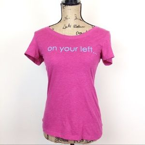 ❤️3 for 20 Coeur On Your Left Pink T Shirt - N374